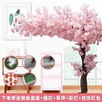 假花仿真花樱花树仿真樱花假桃树大型植物仿真樱花树仿真桃花树许愿树桃花客厅装饰