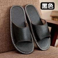 凉拖鞋夏季韩国情侣居家室内地板防滑皮拖鞋女男家居拖鞋