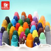 儿童旋转彩绘油画棒蜡笔玩具 可水洗无毒宝宝蜡笔套装