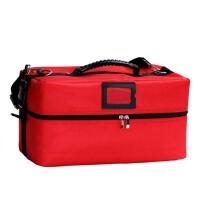 化妆包大号便携式手提化妆箱多层折叠美容纹绣工具包