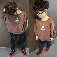 男童卫衣春款童装儿童套头运动衫中大童长袖上衣宽松