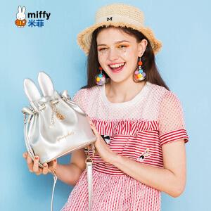 Miffy米菲2017春夏新款水桶包 日韩时尚链条单肩包 女士包包潮