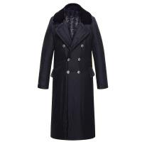 军大衣棉大衣男女冬季长款厚可拆洗反光条保暖抗寒防寒服
