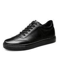 矮个子小脚鞋35码增高休闲鞋内增高英伦皮鞋36码小码商务男鞋板鞋夏季百搭鞋