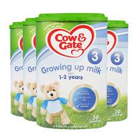 【3段】英国直邮/保税区发货 英国Cow&Gate牛栏 婴幼儿奶粉 三段(1-2岁) 800g*4罐 海外购