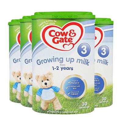 【3段】英国直邮/保税区发货 英国Cow&Gate牛栏 婴幼儿奶粉 三段(1-2岁) 800g*4罐 海外购 新老包装随 机发货