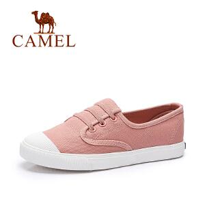 Camel/骆驼女鞋  春夏新款 舒适透气帆布鞋 时尚平底鞋