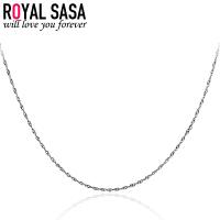 皇家莎莎RoyalSaSa银项链 银饰短款锁骨链 925银链 无吊坠银链子 项链 女 05SP049