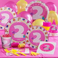 孩派 生日派对用品 生日用品 儿童生日聚会用品 二岁女孩主题系列