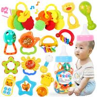 勾勾手婴儿玩具摇铃牙胶手摇铃宝宝新生儿0-3-6-12个月0-1岁益智