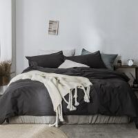 北欧棉麻质感纯色床上四件套全棉素色床单被套 1.5m(5英尺)床 床单款