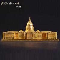 DIY手工拼装建筑模型玩具工艺品拼酷美国国会3D立体金属拼图