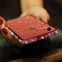 iphoneXR手机边框钻苹果XS MAX手机壳6.1潮女款水钻6.5金属边框XR镶钻边框iphon