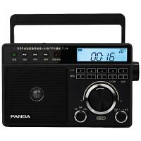 熊猫旗舰款T-19收音机老人全波段台式调频FM半导体老年人插卡播放老式怀旧复古便携闹钟时间温度大收音机广播