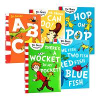 正版 Dr.Seuss's ABC 苏斯博士经典绘本 蓝色系列故事集5本 口袋里的毛怪 英文原版 儿童英语入门学习读物