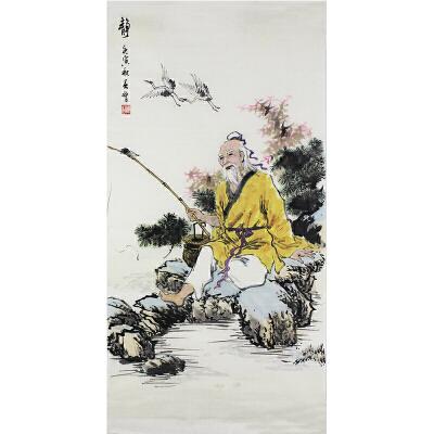 活画泰斗 国礼艺术家吴增  静  夜显财神