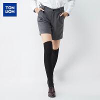 【2件3折价39元】唐狮休闲短裤女冬装新款休闲裤女士基本款多色休闲短裤韩版潮