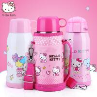HelloKitty儿童保温杯不锈钢女学生凯蒂猫水杯带吸管儿童双盖水壶