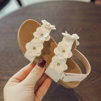 2018夏季新款儿童鞋子小花瓣软底1-3岁宝宝学步鞋公主鞋女童凉鞋
