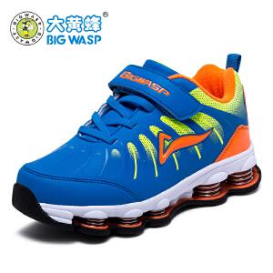 大黄蜂男童鞋弹簧运动鞋儿童冬季跑步鞋中小童时尚休闲潮鞋旅游鞋