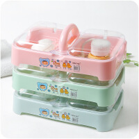 浴室洗衣�r水塑料肥皂盒多�佑猩w�p�哟筇�便�y香皂盒