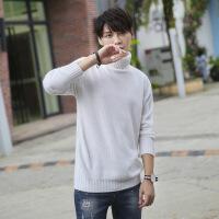 №【2019新款】冬天穿的男士羊绒衫高领加厚衫青年修身毛衣套头针织打底衫