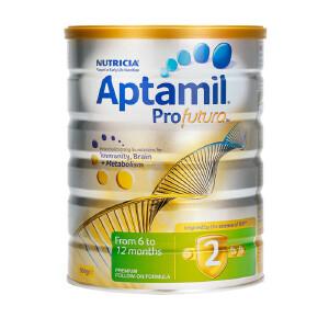 保税区直发 新西兰Aptamil爱他美白金版婴幼儿配方奶粉 2段(6-12个月)900g