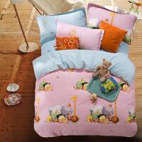 御目 四件套 纯棉夏季床品卡通全棉床单被套枕套三件套1.5儿童床品四季可用1.8m家居床上用品