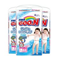 【三包】GOO.N大王 维E系列 婴儿拉拉裤 女宝宝 L44片 9-14kg 海外购