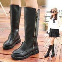 童鞋儿童靴子高筒靴过膝女童雪地靴2017新款冬季棉鞋秋冬公主长靴
