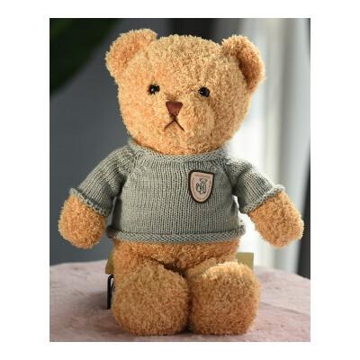 泰迪熊毛绒玩具小熊公仔抱抱熊熊猫公仔布娃娃小号送女友生日礼物 毛衣萌萌熊 送精美包装 代写贺卡