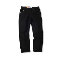 Lee 李牌牛仔裤男士直筒纯黑色男款牛仔裤