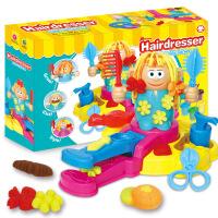 抖音 3D彩泥疯狂理发店主题橡皮泥模具工具套装DIY玩具