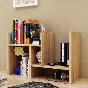 【用券立减50元】御目 书柜 创意伸缩书架书柜多层置物架桌面书柜儿童简易桌上收纳架储物柜办公组合柜 创意家具
