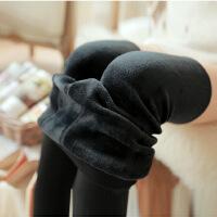 班图诗妮 2018打底裤女秋冬新款珍珠绒加绒加厚保暖外穿高腰无缝一体保暖