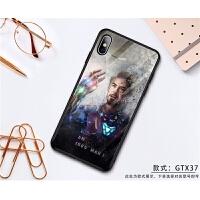 钢铁侠手机壳IPhoneX玻璃苹果XR/XsMax漫威8plus个性潮男6s创意7p 苹果X 款式 GTX37