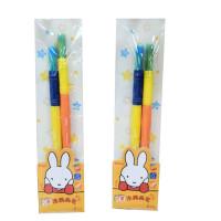 晨光FBH97885米菲卡通造型绘画笔 彩色毛笔 美术用笔 儿童涂鸦画笔 水彩/水粉画用笔 一卡2支装