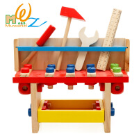 益智儿童木制工具台拼拆装螺母组合早教玩具 周岁生日圣诞节新年六一儿童节礼物