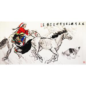史国良《万马奔腾》当代著名画家