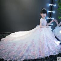 女童婚纱走秀礼服儿童婚纱礼服公主裙花童拖尾钢琴演出晚礼服  支持礼品卡支付