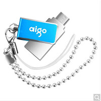 爱国者(aigo)U286 手机U盘两用 金属32g 双插头OTG 蓝色