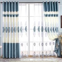 窗帘绣花欧式轻奢简约现代客厅全遮光布卧室成品