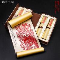 丝绸剪纸画挂画中国风出国小礼物民间手工艺品中国特色礼品送老外