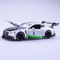 仿真宾利GT3合金Bentley汽车模型赛道版拉力跑车金属车模玩具礼物