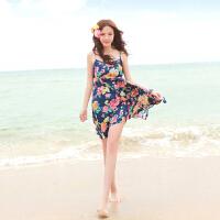 温暖时光 波西米亚碎花吊带裙连衣裙海边度假长裙巴厘岛沙滩裙子