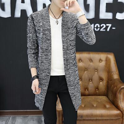 秋季男士中长款开衫针织衫韩版修身休闲毛衣外套潮流男装毛线风衣 发货周期:一般在付款后2-90天左右发货,具体发货时间请以与客服协商的时间为准