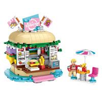 loz俐智积木迷你街景系列饮品店汉堡店小颗粒拼装积木玩具
