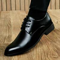 春夏季新款男士休闲鞋男商务正装鞋软皮漆皮小皮鞋青年男士软皮大码男鞋系带婚鞋黑色低帮办公青年绅士工作鞋