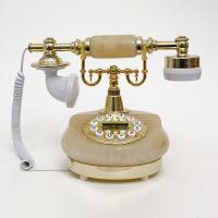 至臻精品欧式电话仿古电话机田园玉石复古电话时尚创意固定电话
