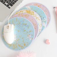 独角兽 办公桌可爱鼠标垫创意心卡通韩国 流动晶亮晶方形少女韩国